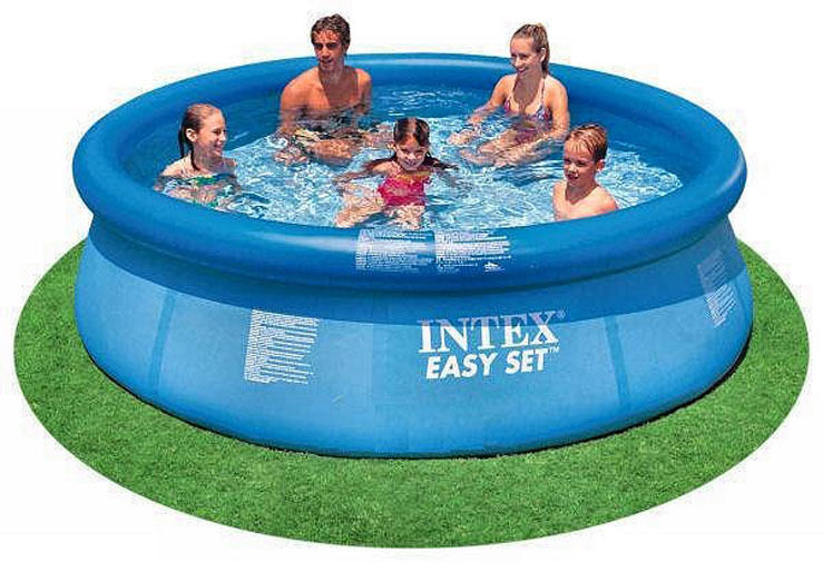 Intex 10 39 X 30 Easy Set Above Ground Inflatable Swimming Pool W O Pump 28120e Ebay