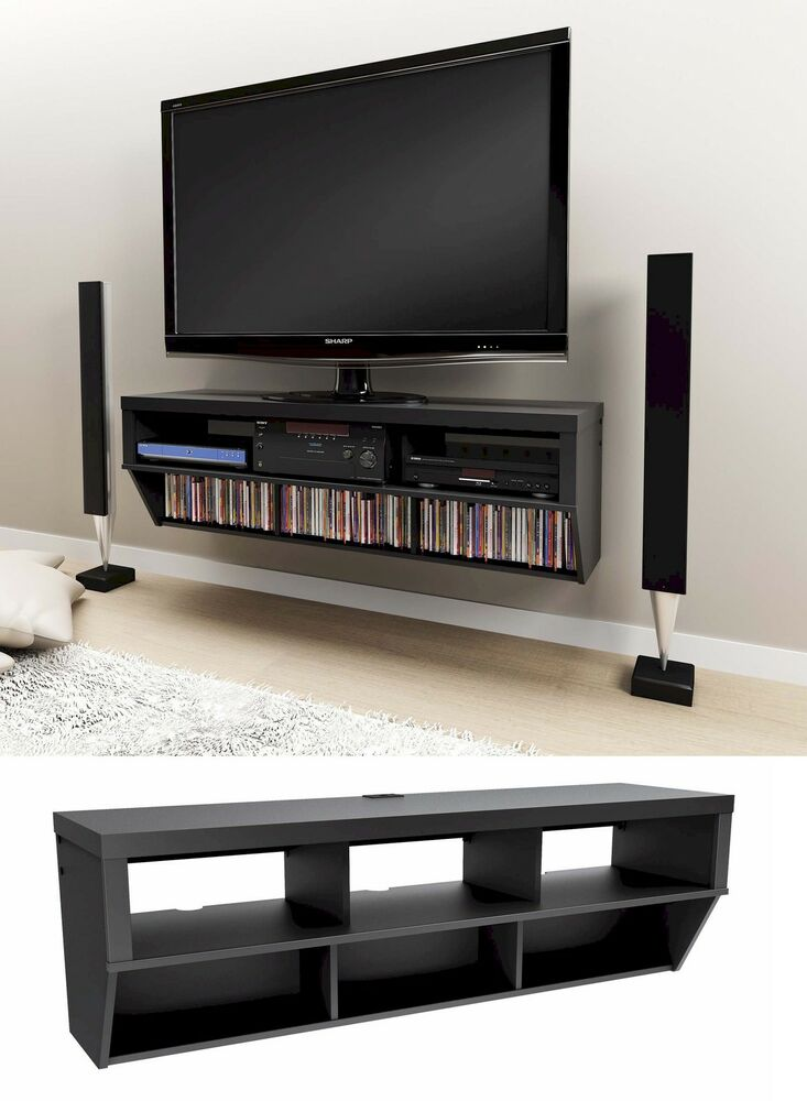 "Latest Tv Unit Design: 58"" Wall Mounted Entertainment Console LCD/LED TV Stand W"