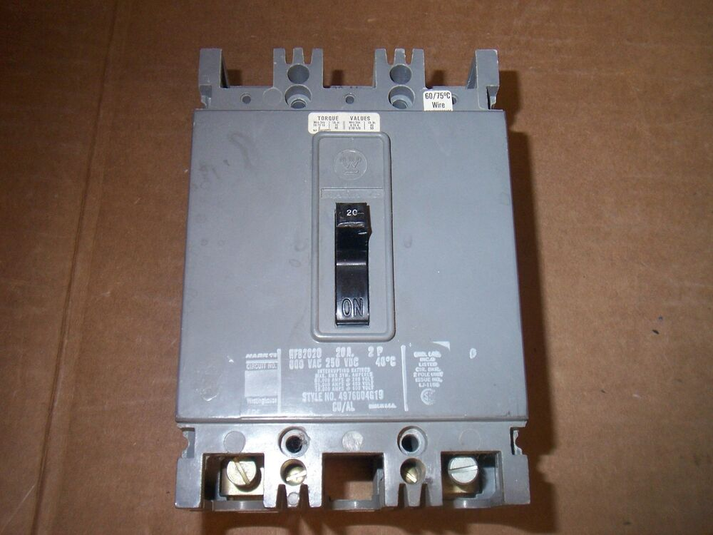 westinghouse breaker hfb2020 hfb circuit 2 pole 20 amp ebay diagram for wiring a 230v 15a circuit breaker wiring a 20 amp circuit #14