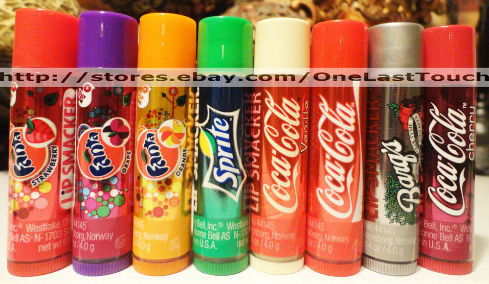 lip smacker balm gloss you choose coca cola fanta. Black Bedroom Furniture Sets. Home Design Ideas