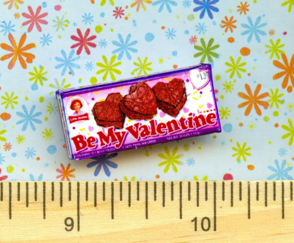 DOLLHOUSE Miniature size Chocolate Valentine Heart Snack ...