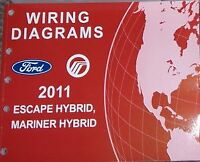 2011 FORD ESCAPE MARINER HYBRID Electrical Wiring Diagram Service Repair Manual
