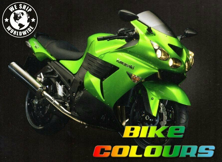 3 stage kawasaki touch up paint kit z1000 z750 zzr1400 er6n f candy lime green ebay. Black Bedroom Furniture Sets. Home Design Ideas