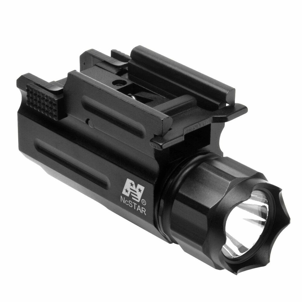 Tactical Pistol Flashlight With Quick Release Mount For