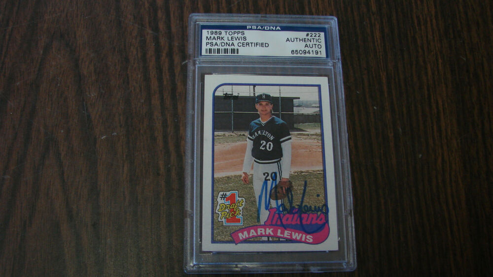 Mark Lewis Autograph Signed 1989 Topps 222 Card