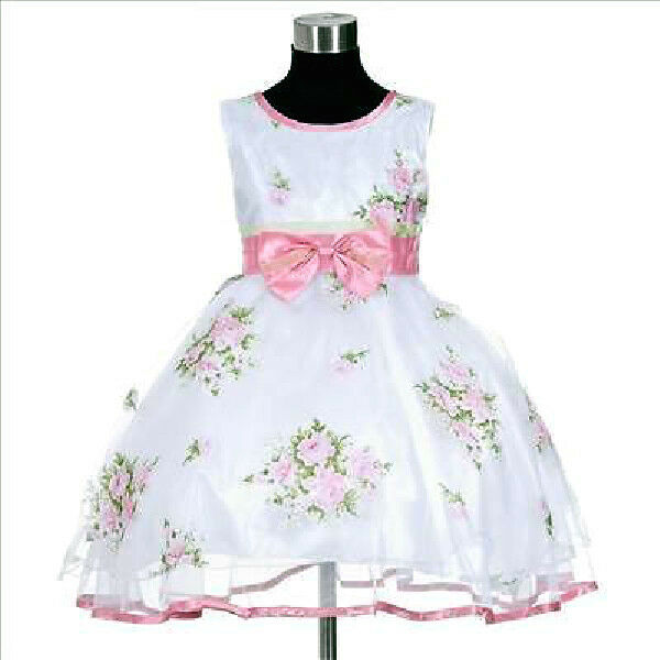 Christmas party flower girls pageant dress size 2 3 4 5 6 7 8 9t