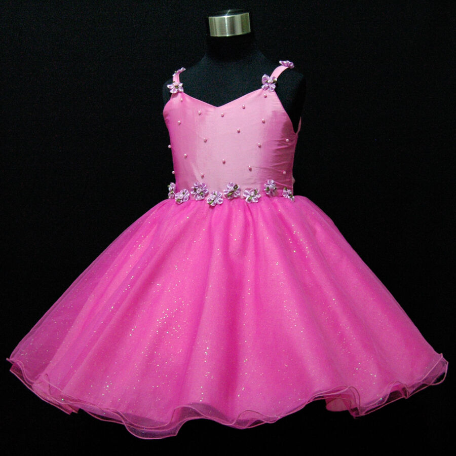 Nwt hp875 toddler baby girl pink christmas girls pagent for Dresses for 10 year olds for a wedding