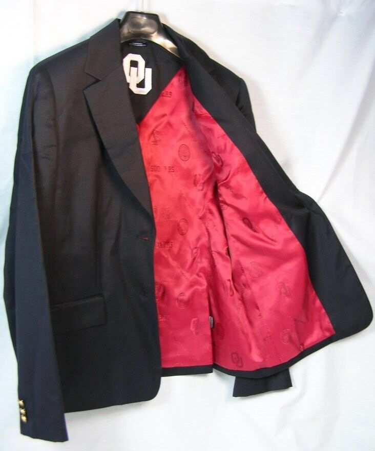 OKLAHOMA UNIVERSITY SOONERS WOMENS TEAM 2 BUTTON BLAZER