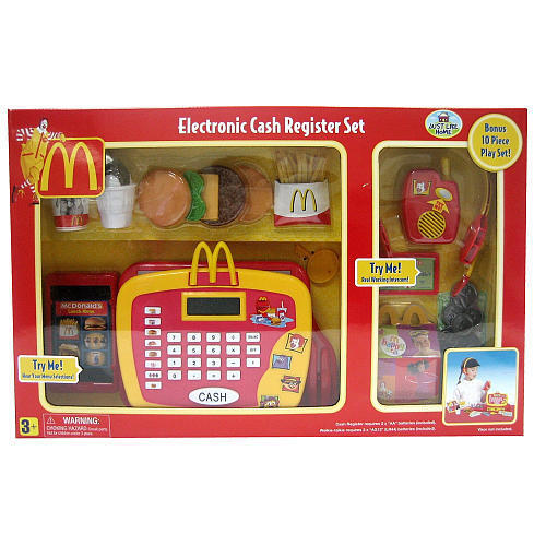 Deluxe Toy Cash Register : Just like home mcdonald s cash register piece playset
