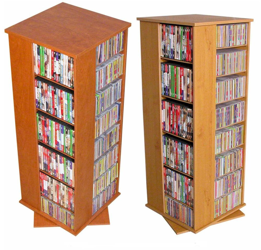 Good 928 CD 416 DVD 532 Blu Rays Floor Spinner Storage Tower Rack   NEW | EBay