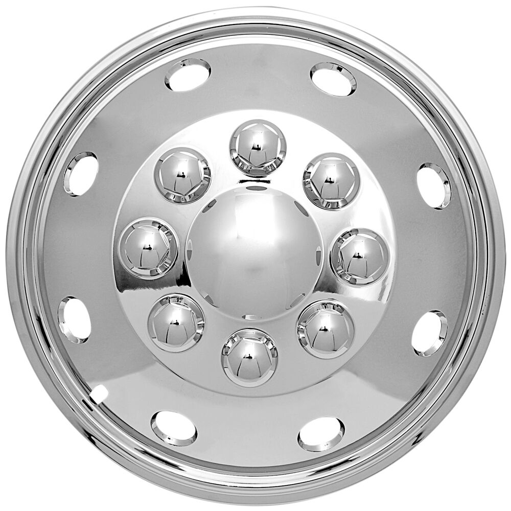 Craftsman Chrome Wheel Covers : Qty pc quot lug rv dual chrome simulators skin hub cap