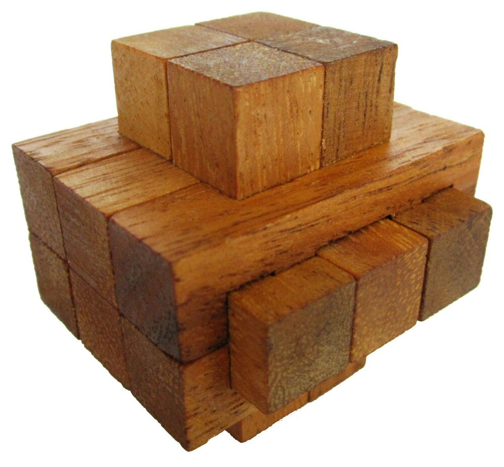 notched 3d puzzle holz w rfel holzspiel denkspiel knobelspiel geduldspiel ebay. Black Bedroom Furniture Sets. Home Design Ideas