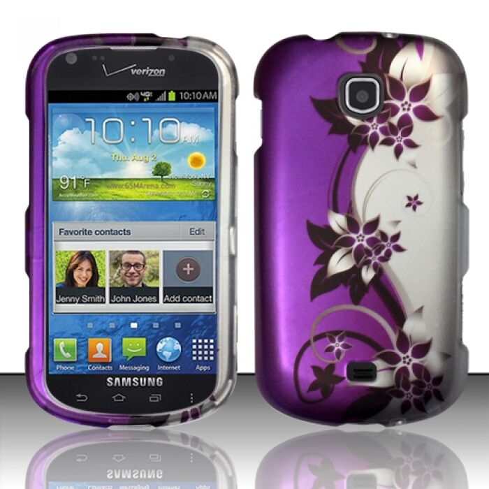 Samsung samsung stellar phone cases : Samsung Galaxy Stellar i200 Rubberized HARD Case Snap Phone Purple ...