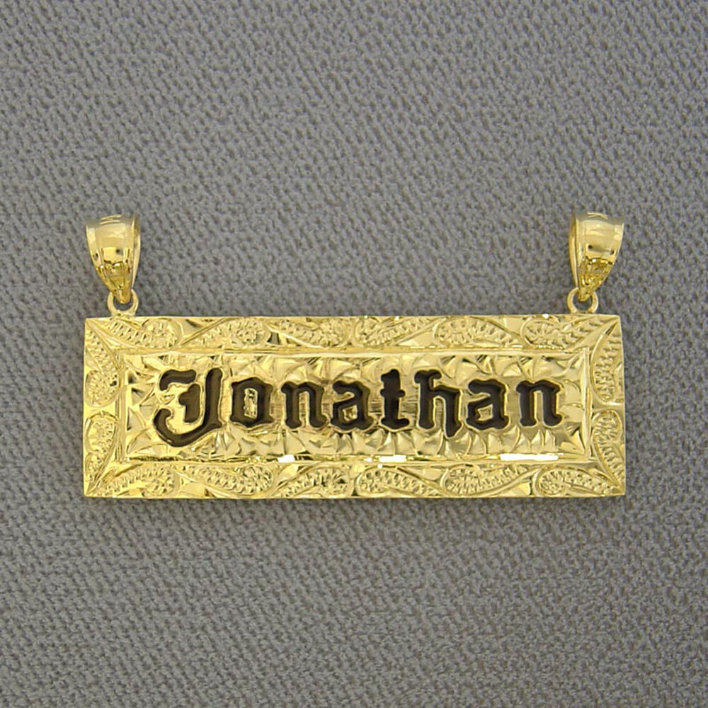 solid 14k yellow gold name pendant handmade hawaiian