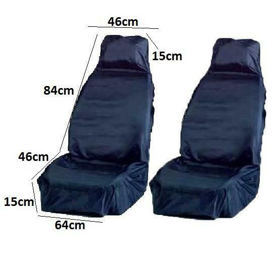 waterproof front car seat cover protector truck driver lorry pair ebay. Black Bedroom Furniture Sets. Home Design Ideas