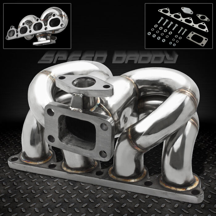 T3/T4 RAM HORN STAINLESS TURBO MANIFOLD EXHAUST 88-00 D