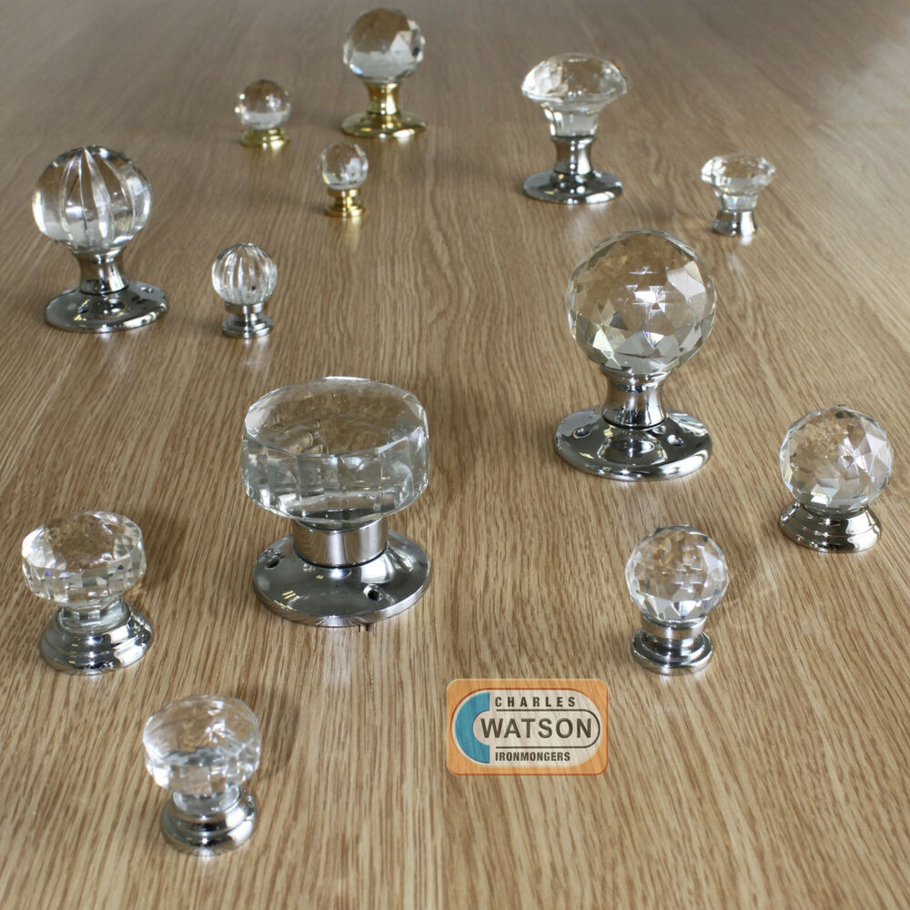 Glass Mortice Door Cupboard Knob Ball Handle Chrome Plated