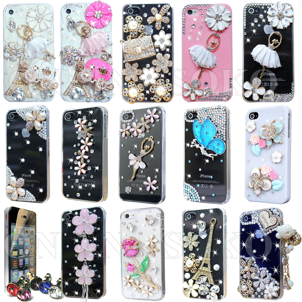 iphone 4s cases ebay for apple iphone 4 4s luxury 3d bling 14425
