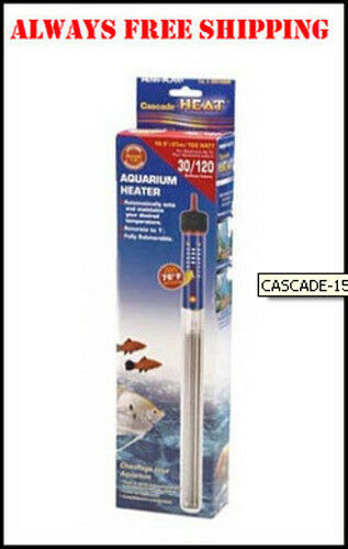 Cascade 150 watt submersible heater 10 inch for 30 gallon for 10 gallon fish tank heater