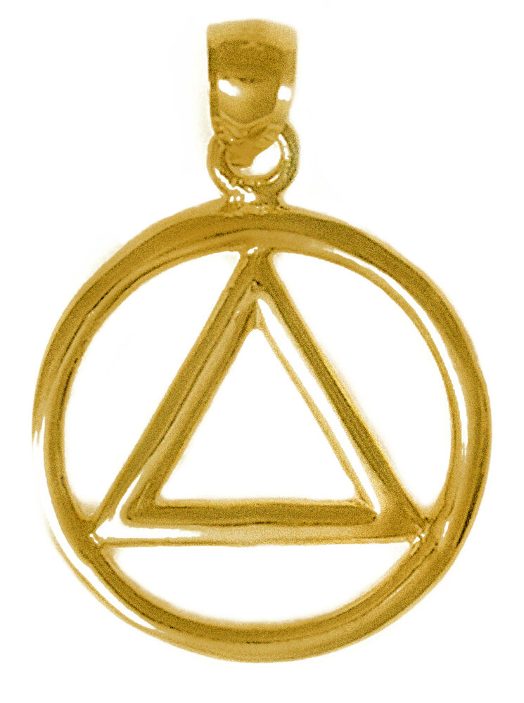 aa alcoholics anonymous jewelry pendant antiqued brass