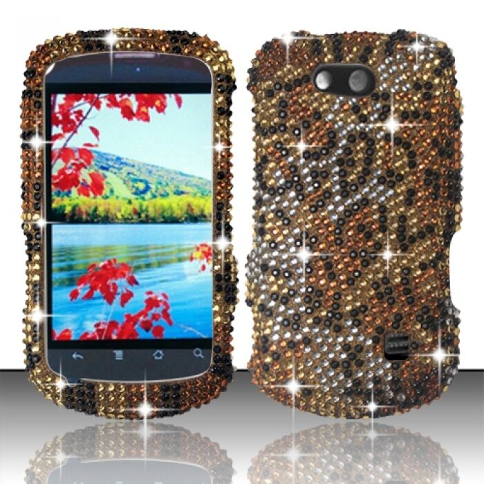 ... ZTE Groove Crystal Diamond BLING Hard Case Phone Cover Cheetah : eBay