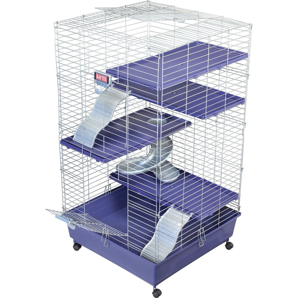 Kaytee deluxe 24 x 24 multi level ferret home with casters for Buy guinea pig cage
