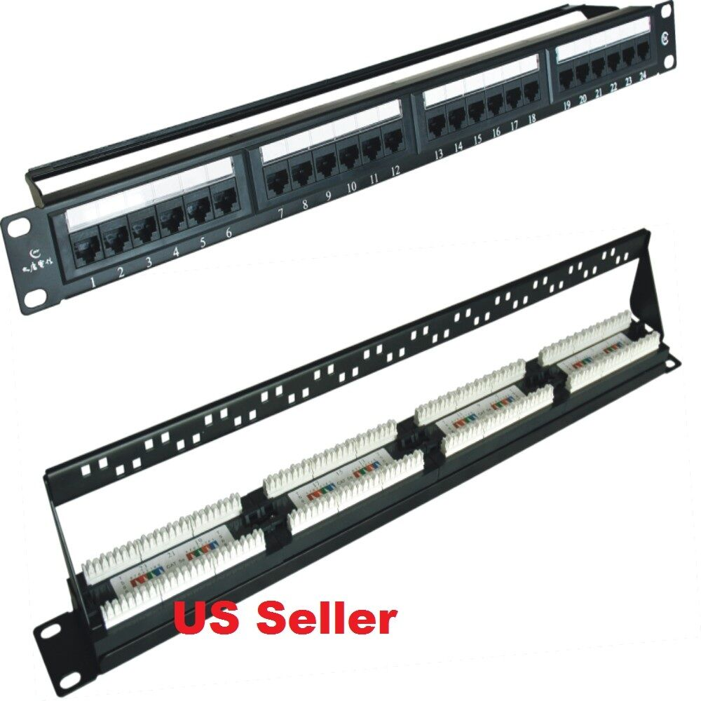 Cat5e Port Wiring Enthusiast Diagrams Cable Schemes Premium 24 Rack Patch Panel Networking Jack Rj45 1u Ebay Keystone Diagram