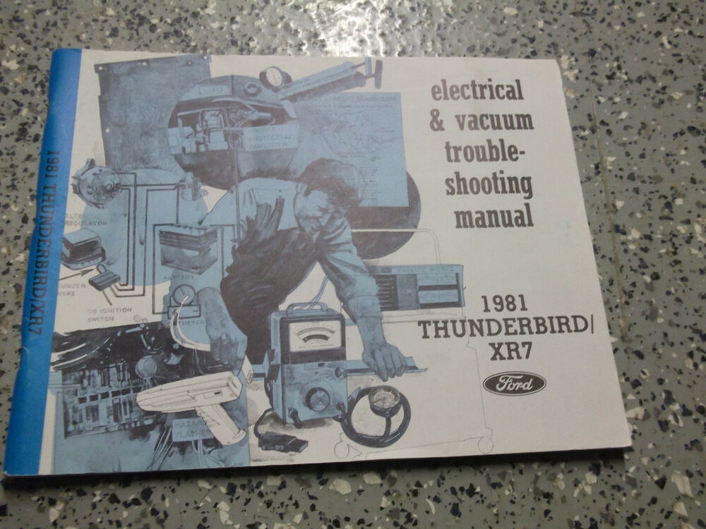 1981 Ford Thunderbird Electrical Wiring Service Shop