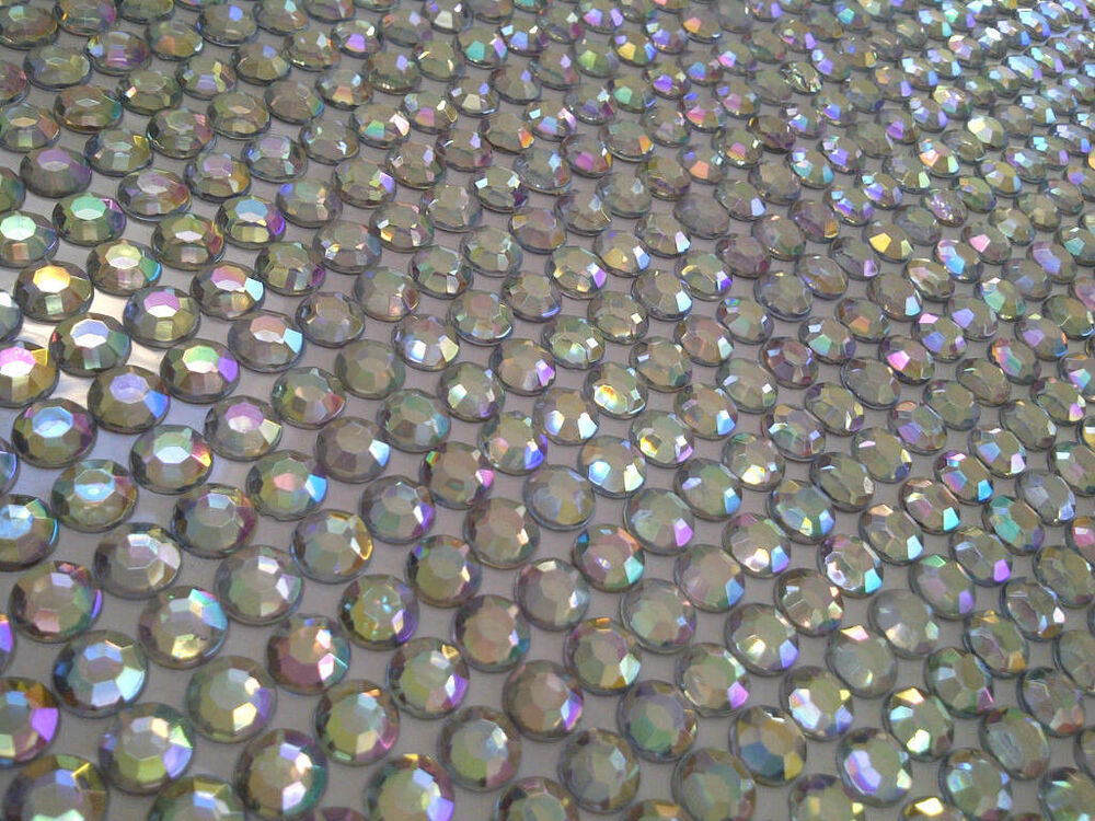 792pc bulk sheet of 8mm self adhesive ab diamante stick on for Stick on gems for crafts