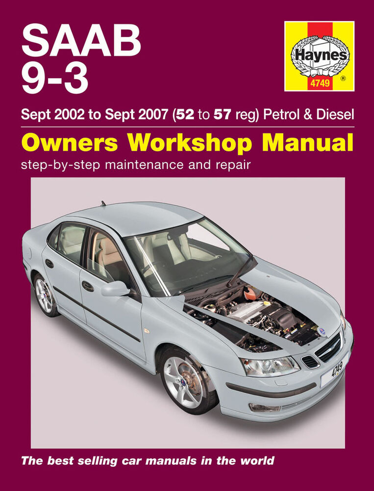 haynes workshop repair manual for saab 9 3 petrol diesel. Black Bedroom Furniture Sets. Home Design Ideas