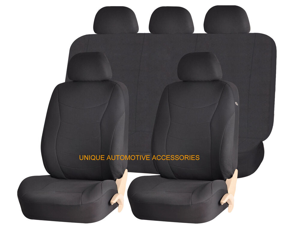 black speed style airbag compatible auto seat cover set for ford fusion mustang ebay. Black Bedroom Furniture Sets. Home Design Ideas