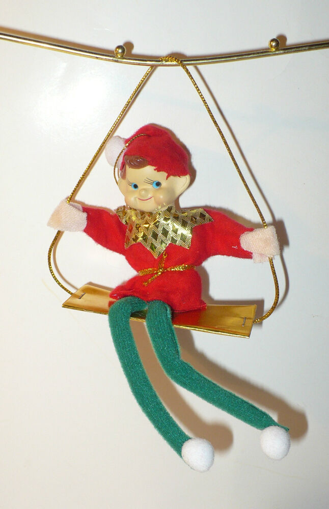 christmas tree ornaments vintage pixie on swing tree ornament vgc ebay 10876