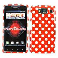 White Polka Dots on Red Hard Cover Phone Case for Motorola Droid Razr HD XT926