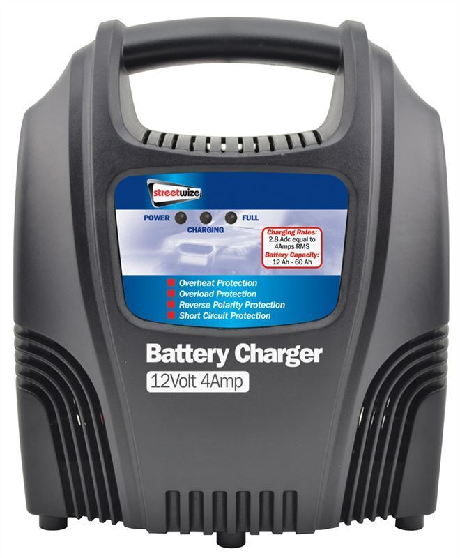 12 volt 4 amp car van boat bike motorhome led compact robust battery charger ebay. Black Bedroom Furniture Sets. Home Design Ideas