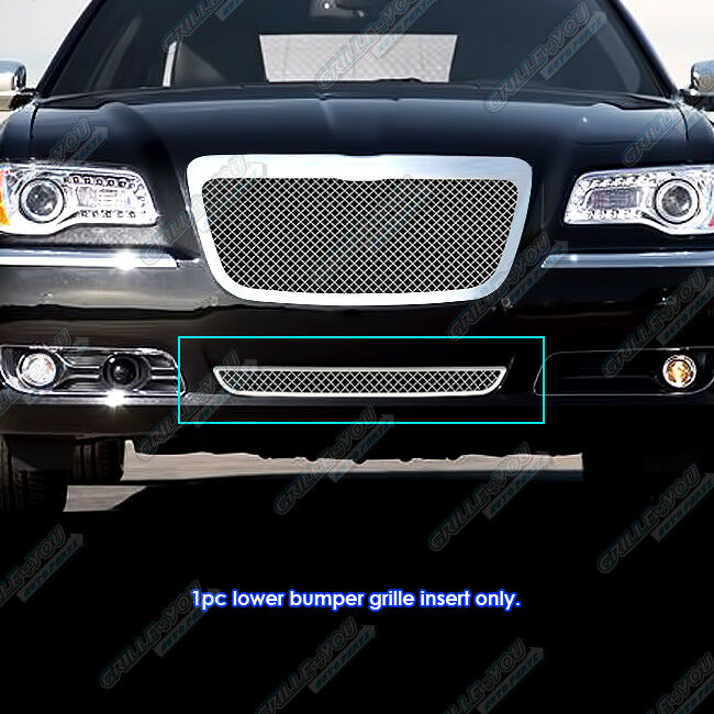 2011 2014 Chrysler 300 300c Fog Light Stainless Steel Mesh: Fits 2011-2014 Chrysler 300/300C Bumper Stainless Steel