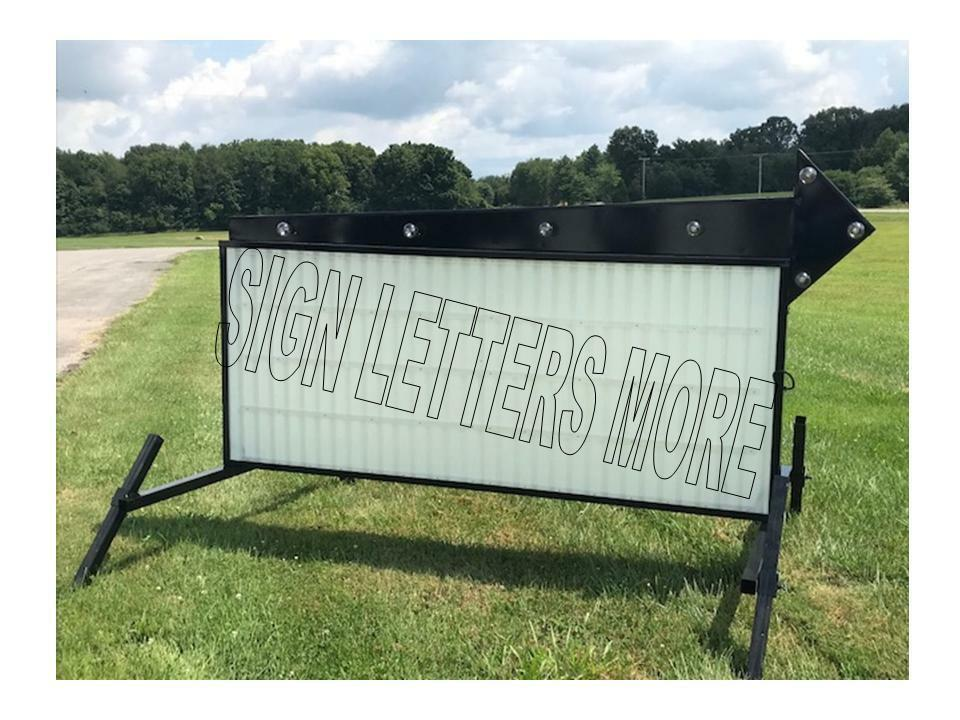 Model A 8 Flashing Arrow Outdoor Portable Lighted Business Sign W Letters 40 X8 39 Ebay