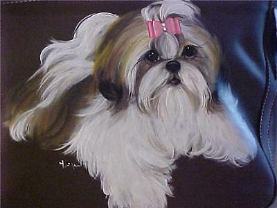 best shoo for shih tzu shih tzu handpainted handbag best shih tzus on ebay ebay 8314