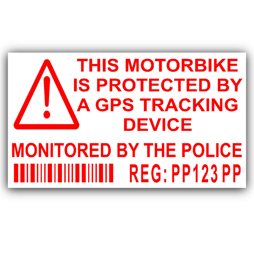 Details about motorbike security stickers alarmgpstracker device motorcycle bike warning