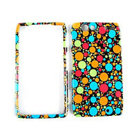 Polka Dots On Black Hard Cover Case For Motorola Droid RAZR XT912 Accessory