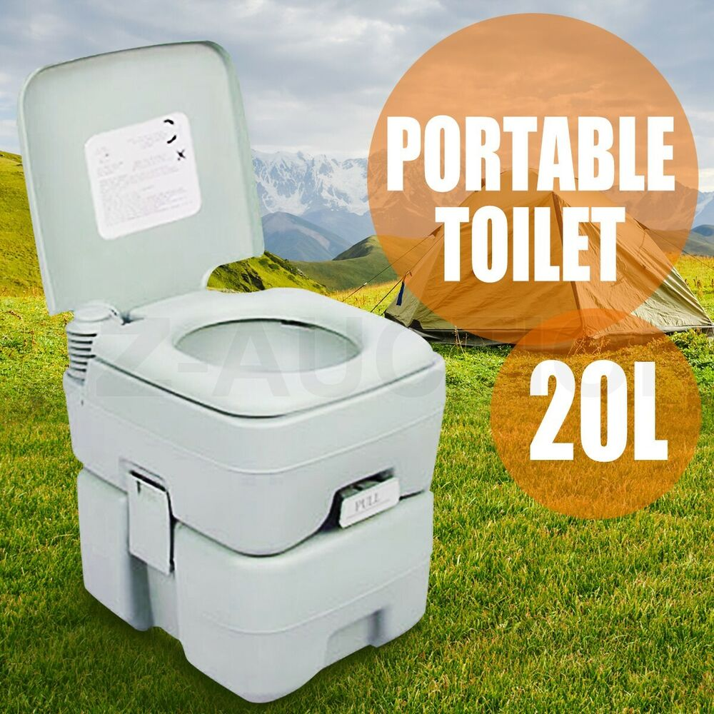 20l camping potty portable toilet square outdoor travel. Black Bedroom Furniture Sets. Home Design Ideas