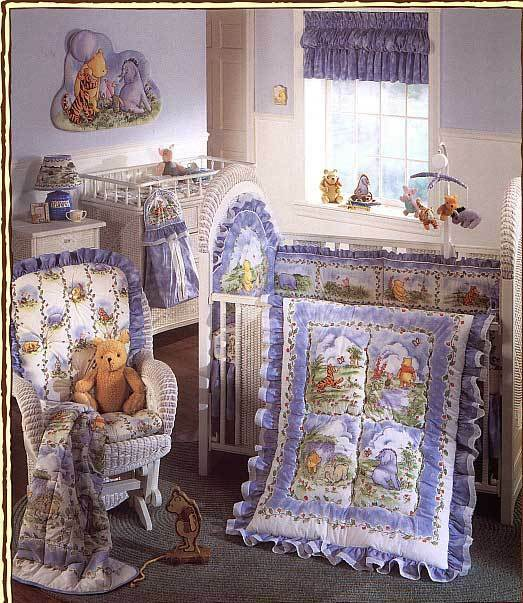 Classic Winnie The Pooh Amp Friends 4 Pc Crib Bedding Set Ebay
