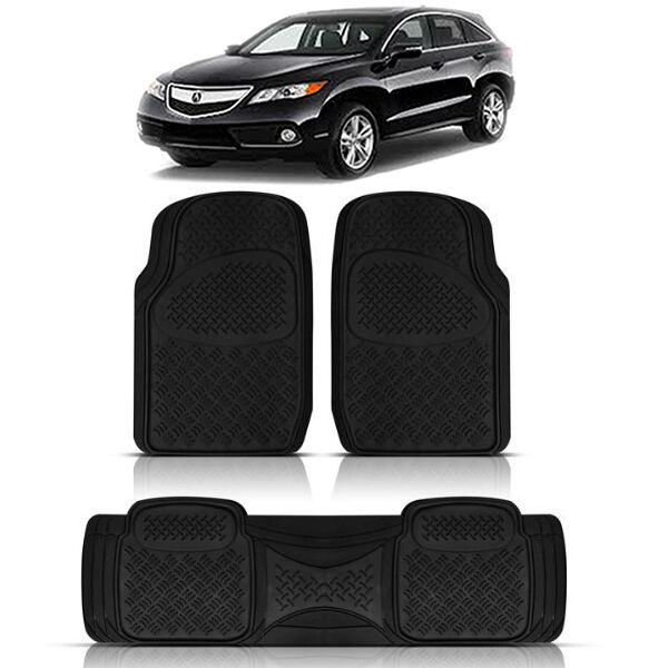 3PC HEAVY DUTY FRONT REAR ACK RUBBER FLOOR MATS SET For