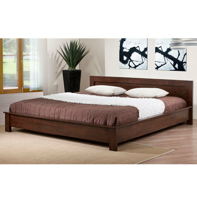 alsa platform king size bed alsa platform king bed ebay - Solid Wood Platform Bed Frame King