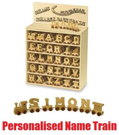 wooden train letters for children's names 3