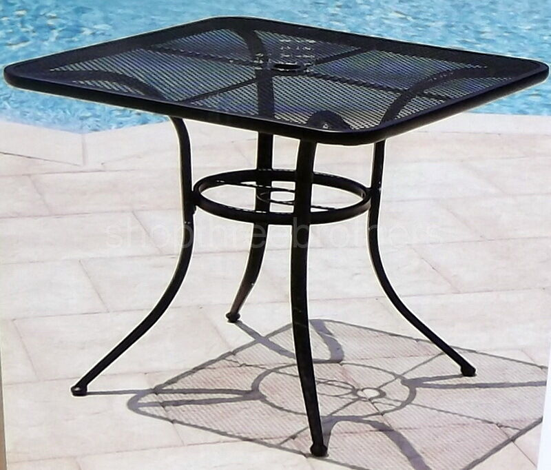 New 28 black bistro table wrought iron in outdoor cafe for Metal patio table