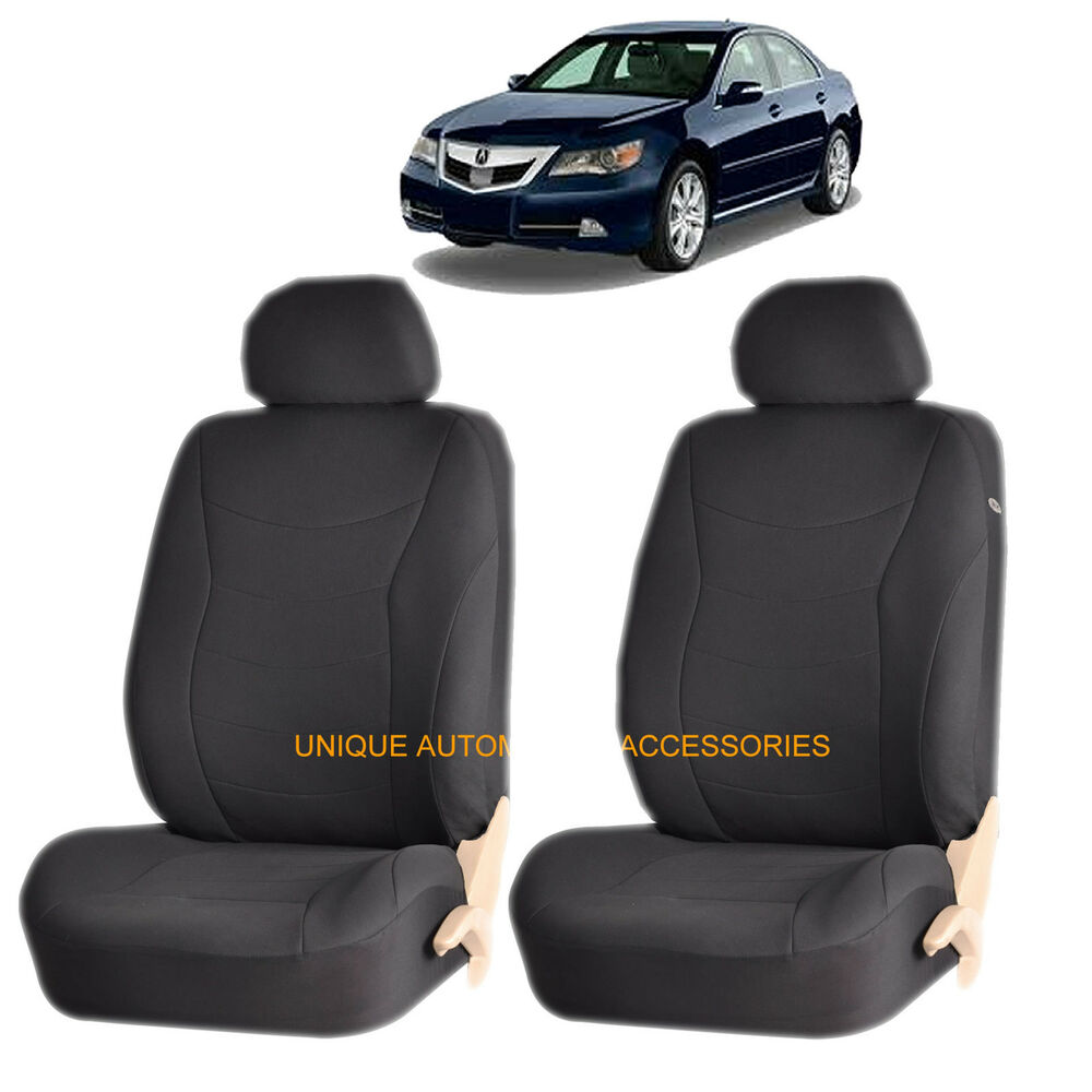 black speed airbag compatible front lowback seat covers set for acura tl rdx mdx ebay. Black Bedroom Furniture Sets. Home Design Ideas