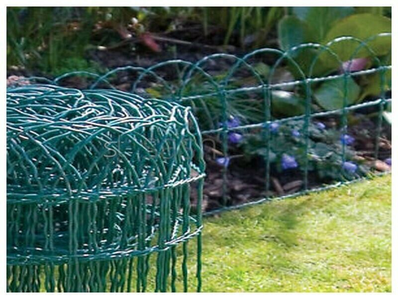 M green pvc coated garden border
