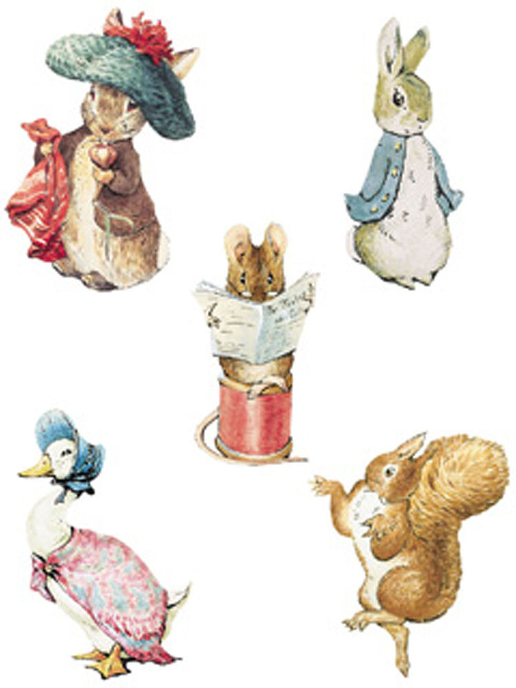 25 wallies beatrix potter peter bunny rabbit characters for Beatrix potter mural wallpaper