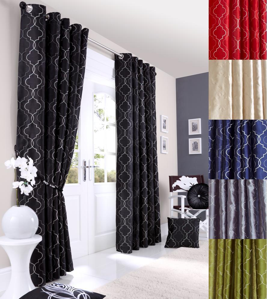 MIDTOWN Lined Eyelet Ring Top Curtains