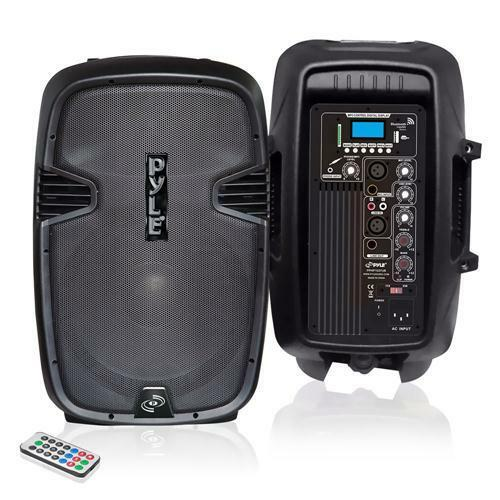 New PPHP1037UB 10'' Powered 2-Way Speaker MP3 USB SD Input + Bluetooth & Record